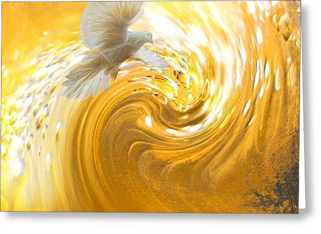 Holy Spirit Come Greeting Card by Beverly Guilliams