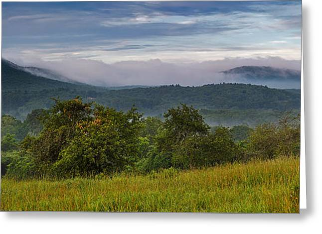Holyoke Range From Mount Pollux Greeting Card by Stephen Gingold