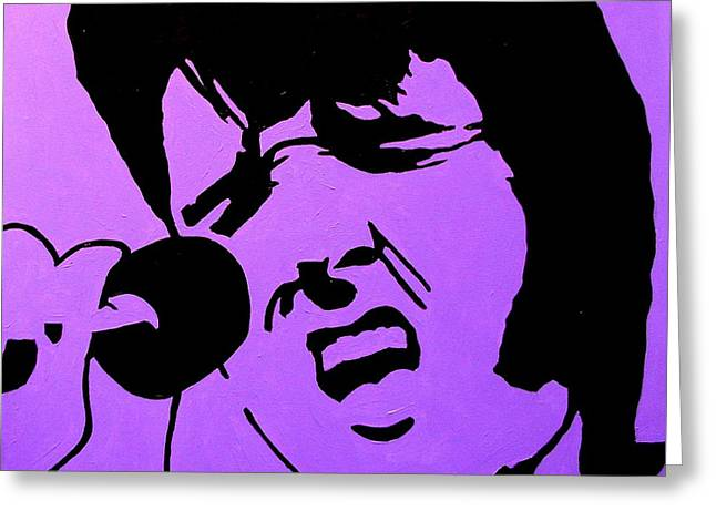 Print Card Greeting Cards - Homage To Elvis Greeting Card by John  Nolan