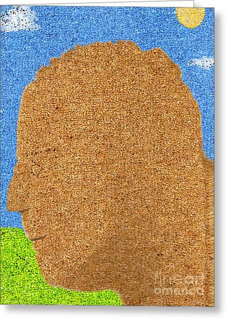 Seurat Greeting Cards - Homage to Seurat in Carpet Greeting Card by Andy  Mercer