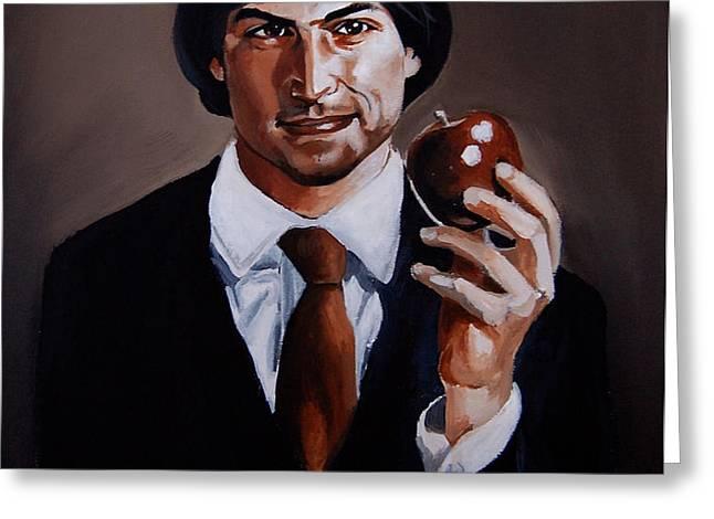 Homage to Steve Jobs Greeting Card by Emily Jones