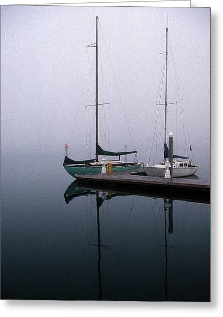 Boats At Dock Photographs Greeting Cards - Home Again Greeting Card by Skip Willits