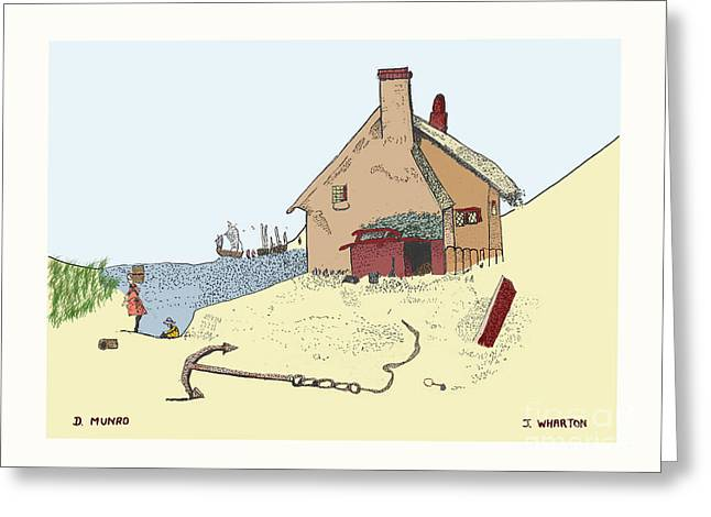 Home by the Sea Greeting Card by Donna Munro
