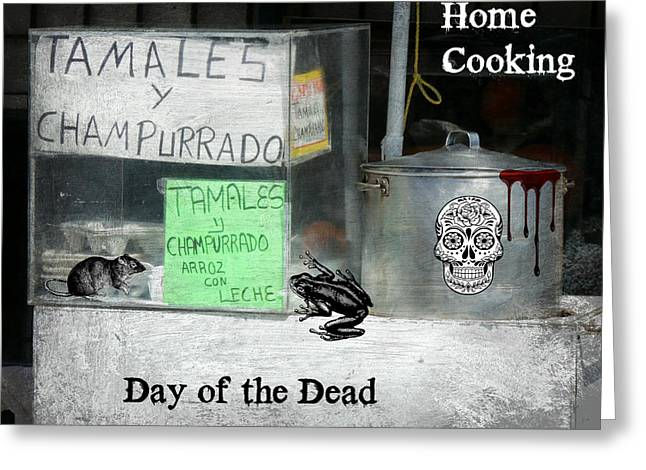 Home Cooking Day Of The Dead Greeting Card by Robert Frank Gabriel