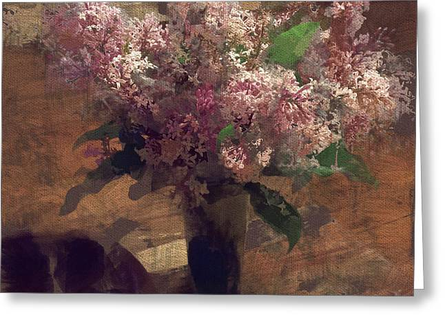 Interior Still Life Digital Art Greeting Cards - Home Flowers Greeting Card by Yury Malkov