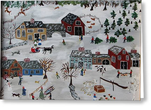 Home For The Hoildays Greeting Card by Lee Gray