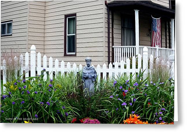 Religious Images Digital Greeting Cards - Home In The heartland Oil Greeting Card by Joe Paradis
