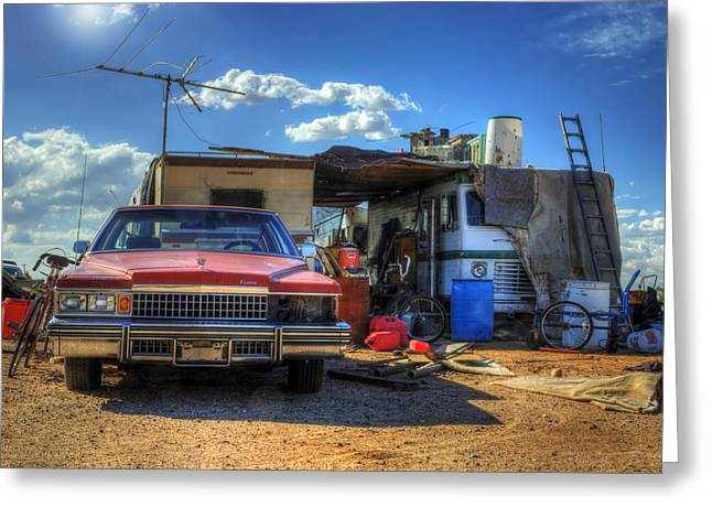 Disarray Greeting Cards - Home is Where the Caddy Is Greeting Card by Wayne Stadler