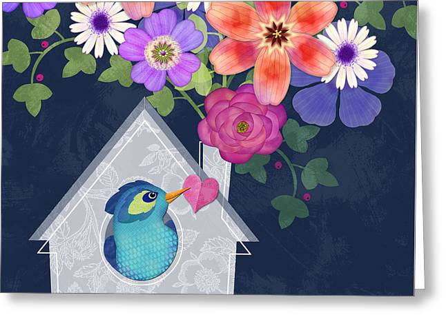 Home Is Where You Bloom Greeting Card by Valerie Drake Lesiak