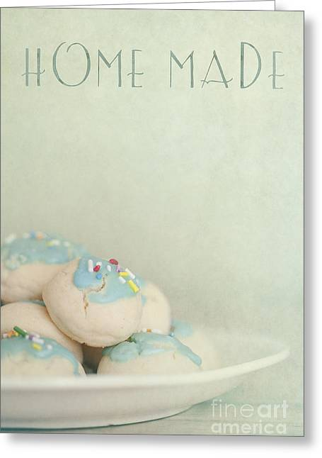 Cookie Greeting Cards - Home Made Cookies Greeting Card by Priska Wettstein