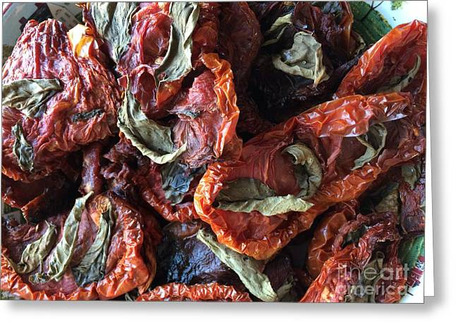 Home Made Sun  Dried Tomatoes Greeting Card by Viktoriya Sirris
