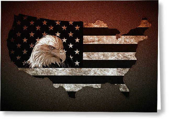 Home Of The Brave Greeting Card by Gus Schoenamsgruber