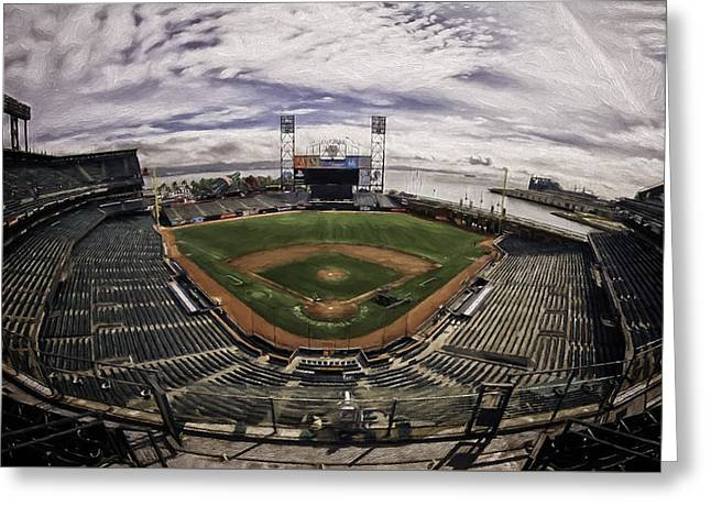 Baseball Stadiums Greeting Cards - Home of the Giants Greeting Card by Eduard Moldoveanu