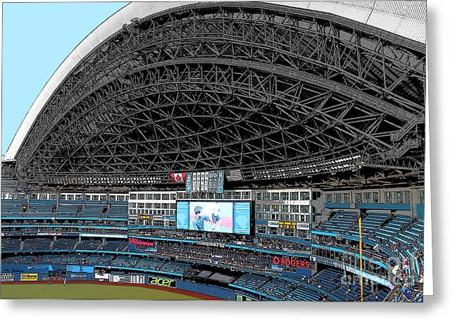 Home Of The Toronto Blue Jays_ Roger's Centre Greeting Card by Nina Silver