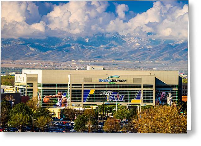 Home Of The Utah Jazz Greeting Card by TL  Mair