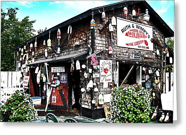 Lobster Shack Greeting Cards - Home Of Wilbur Greeting Card by David A Brown