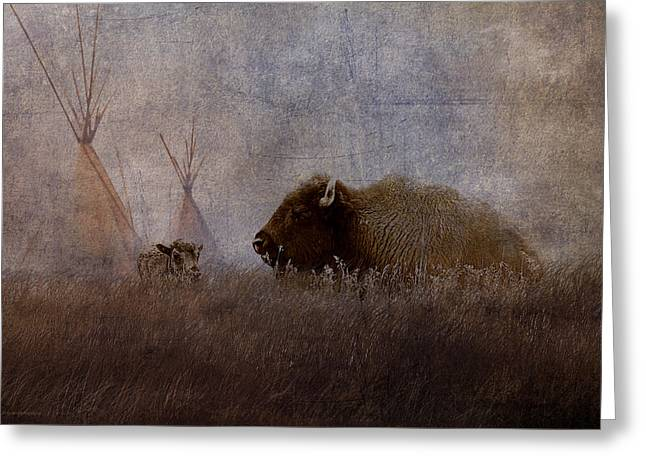 Home On The Range Greeting Card by Ron Jones