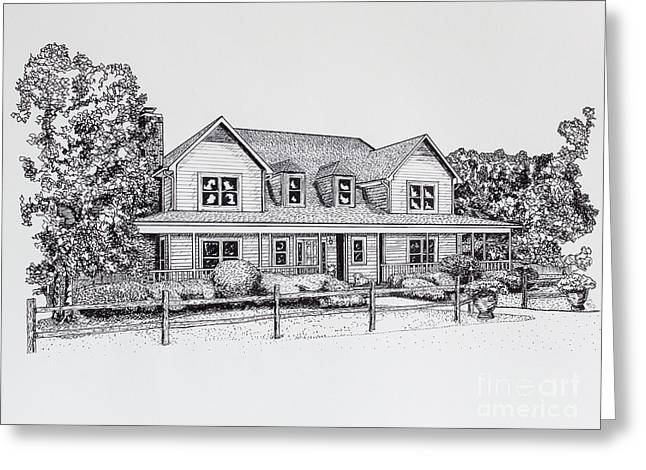 Recently Sold -  - Pen Greeting Cards - Summer Villa 2015 Greeting Card by Robert Yaeger