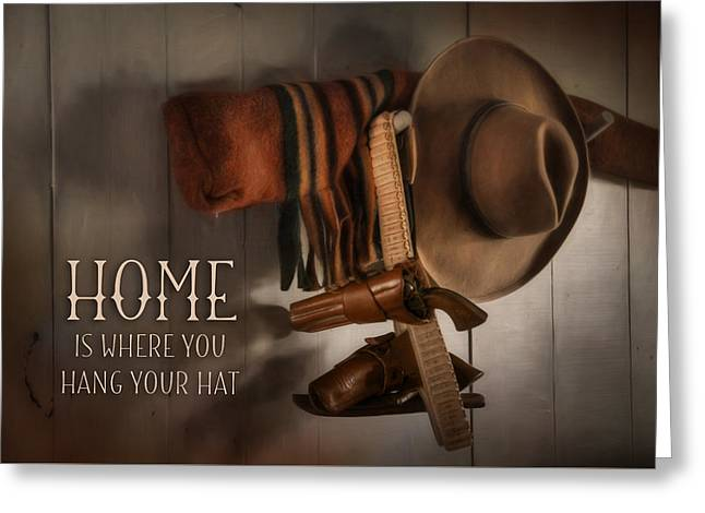 Home Protection Greeting Card by Lori Deiter