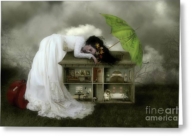Frame House Digital Art Greeting Cards - Home Sweet Home Greeting Card by Shanina Conway