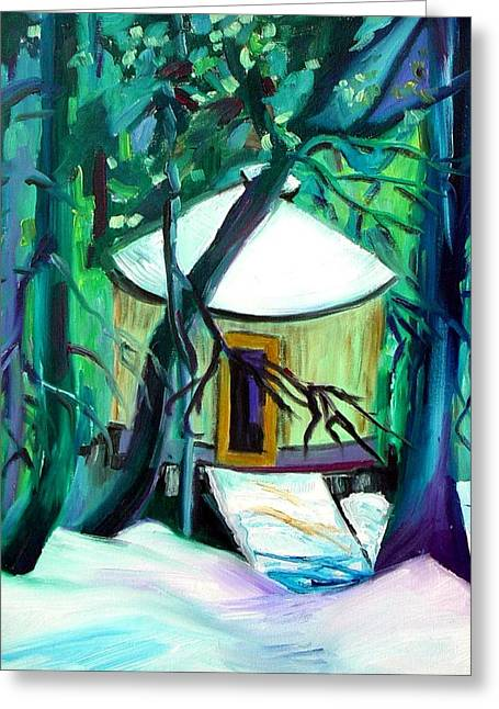 Boundary Waters Paintings Greeting Cards - Home Sweet Yurt Greeting Card by Patricia Bigelow
