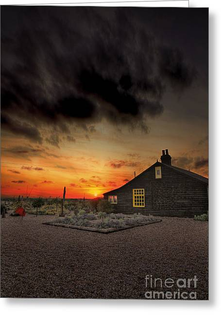 Home To Derek Jarman Greeting Card by Lee-Anne Rafferty-Evans