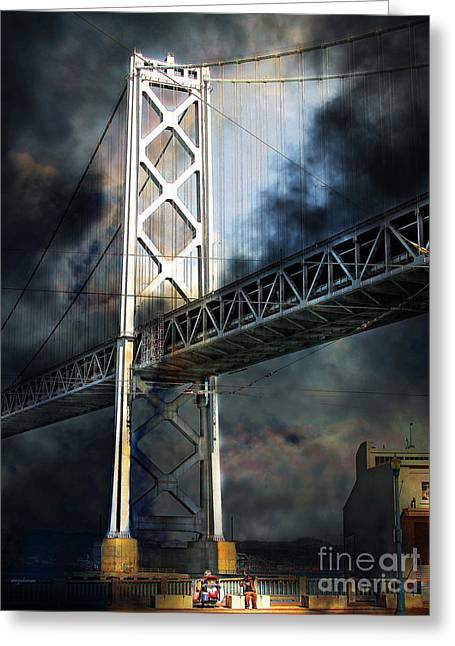 Homeless By The Bay 7d7748 Vertical Greeting Card by Wingsdomain Art and Photography