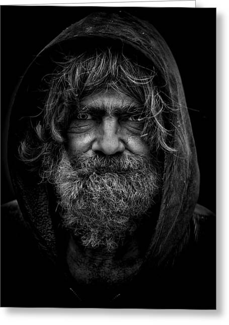 Hoodies Greeting Cards - Homeless Greeting Card by Leroy Skalstad