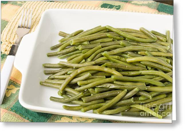 Green Beans Greeting Cards - Homemade Green Beans Greeting Card by Vizual Studio