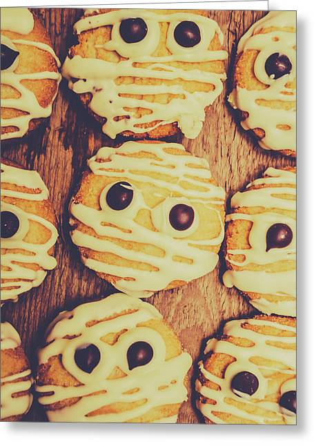 Homemade Mummy Cookies Greeting Card by Jorgo Photography - Wall Art Gallery