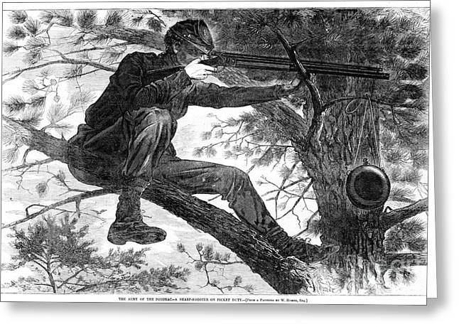 Recently Sold -  - Engraving Greeting Cards - Homer: Civil War, 1862 Greeting Card by Granger