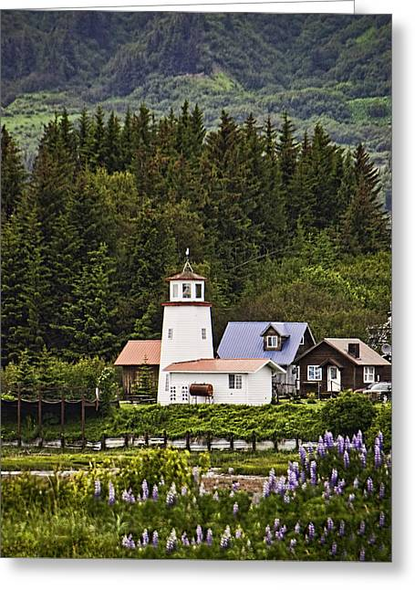 Outbuildings Greeting Cards - Homer Lighthouse Greeting Card by Phyllis Taylor