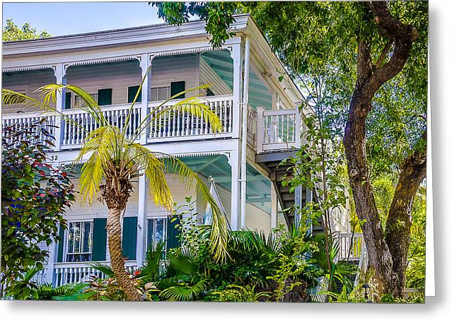 Homes Of Key West 1 Greeting Card by Julie Palencia