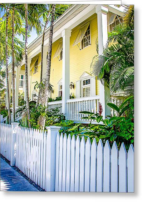 Homes Of Key West 14 Greeting Card by Julie Palencia