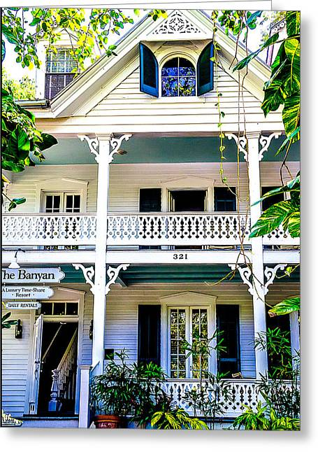 Homes Of Key West 2 Greeting Card by Julie Palencia