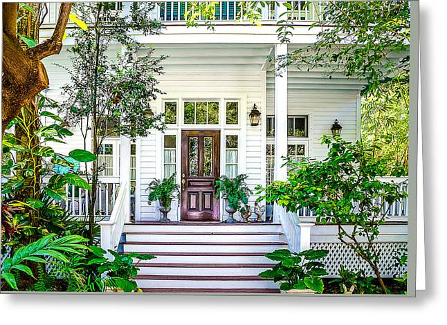 Homes Of Key West 3 Greeting Card by Julie Palencia