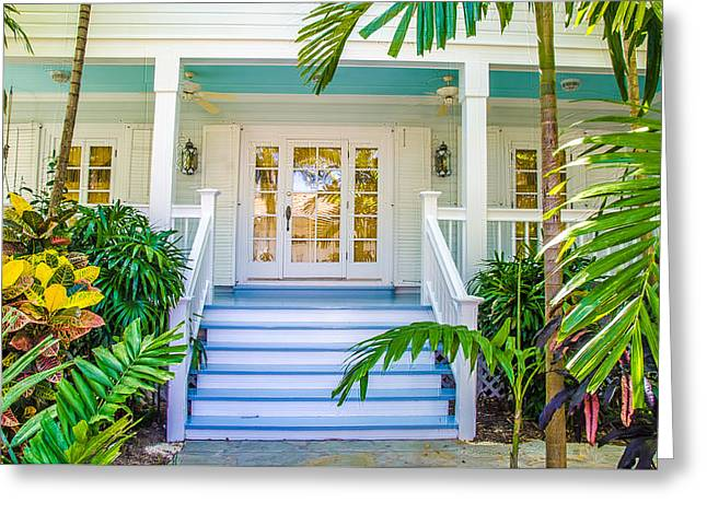 Homes Of Key West 5 Greeting Card by Julie Palencia