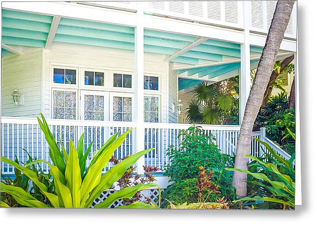 Homes Of Key West 7 Greeting Card by Julie Palencia