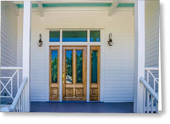 Homes Of Key West 8 Greeting Card by Julie Palencia