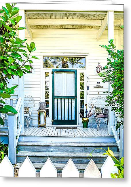 Homes Of Key West 9 Greeting Card by Julie Palencia