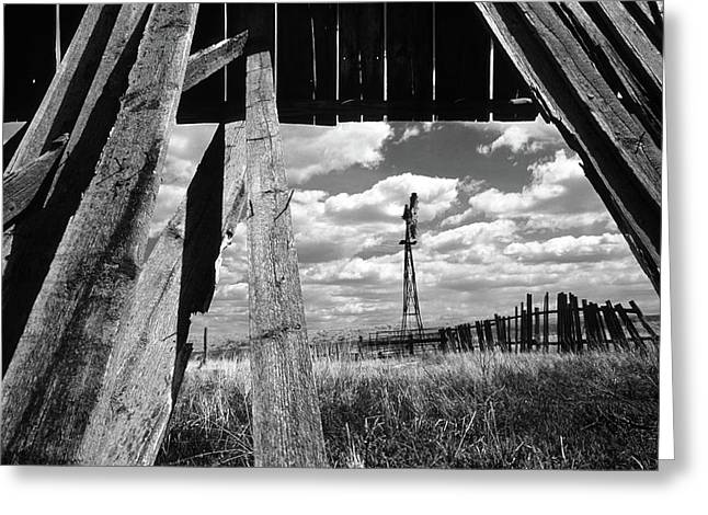 Homestead Greeting Card by Bob Christopher