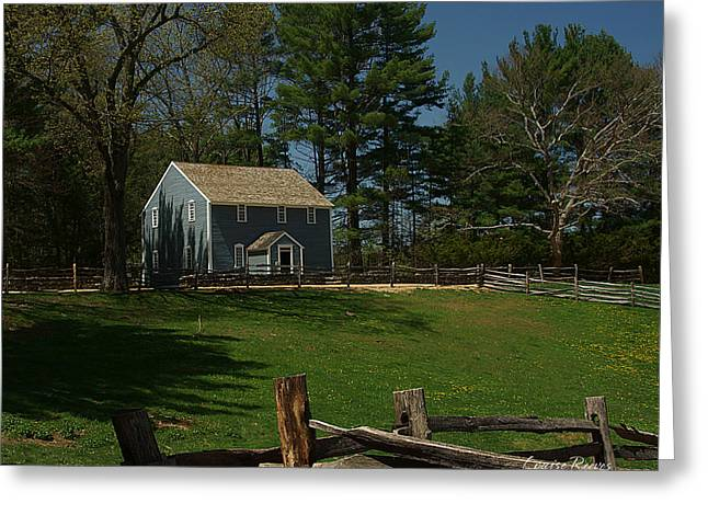 Quaker Greeting Cards - Friends Meeting House Greeting Card by Louise Reeves