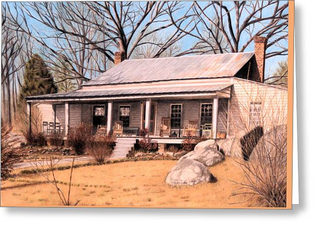 Homestead Greeting Card by Maxine Blackwell