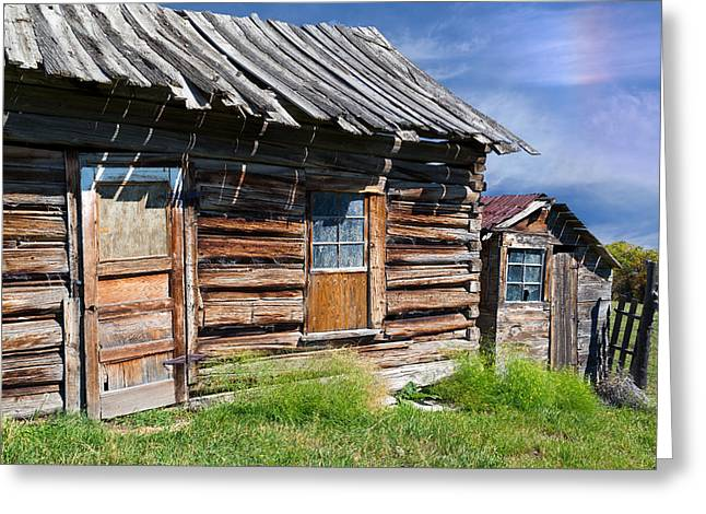 Shack Greeting Cards - Homestead on Bear Lake Greeting Card by Kathleen Bishop