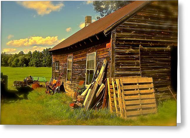 Outbuildings Greeting Cards - Homesteading Greeting Card by Elizabeth Tillar