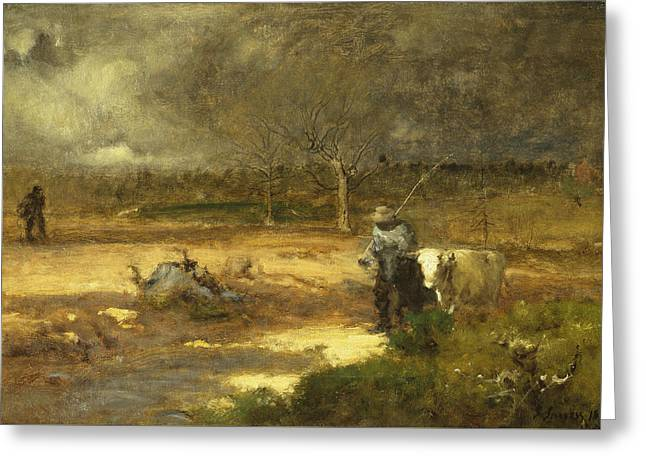 Homeward Greeting Card by George Inness