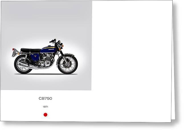 Motorcycles Greeting Cards - Honda CB750 1971 Greeting Card by Mark Rogan