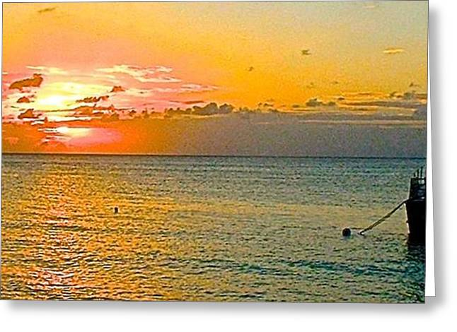 Sunset Scenes. Greeting Cards - Honduran Sunset Greeting Card by Brent Sisson