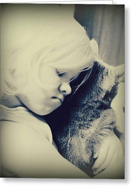 Childre Greeting Cards - Honest love Greeting Card by Trisha Scrivner