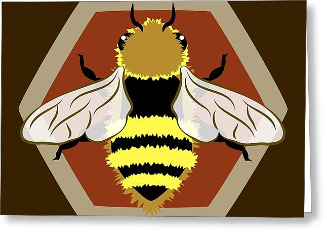 At Work Greeting Cards - Honey Bee Graphic Greeting Card by MM Anderson